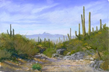 Baboquiviri from King Canyon by Western pastel landscape artist Don Rantz