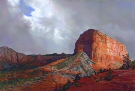 Breaking Through by Western pastel landscape artist Don Rantz