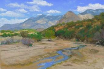 Cañada del Oro by Western pastel landscape artist Don Rantz