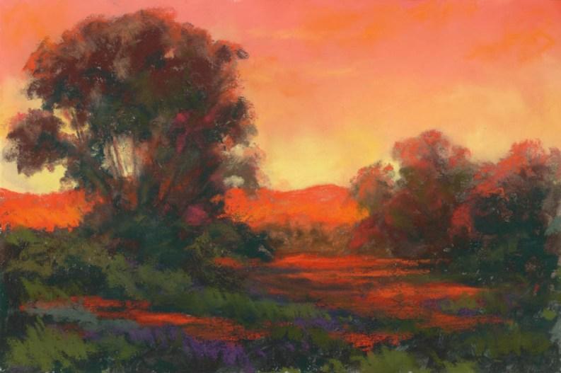 Color Orange by Western pastel landscape artist Don Rantz