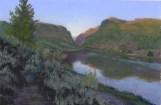 Dawn by Western pastel landscape artist Don Rantz