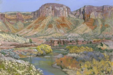Delores River by Western pastel landscape artist Don Rantz