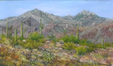 Desert View by Western pastel landscape artist Don Rantz