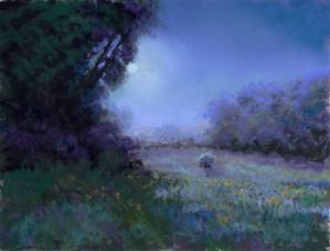 Dark Blue by Western pastel landscape artist Don Rantz