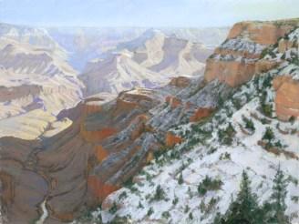 Grand Canyon 3 by Western pastel landscape artist Don Rantz