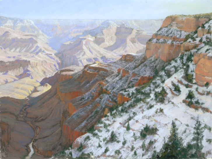 Grand Canyon 3 by Western pastel landscape artist Don Rantz