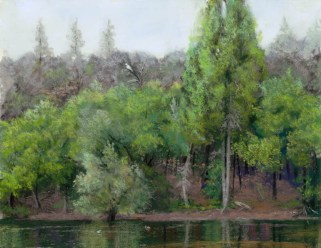 Granite Basin Lake by Western pastel landscape artist Don Rantz