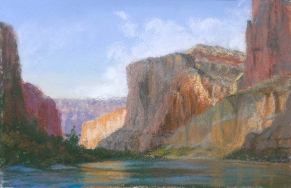 Inner Gorge by Western pastel landscape artist Don Rantz