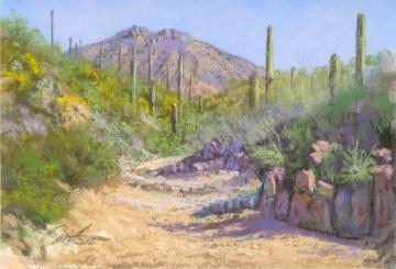 King's Canyon Wash by Western pastel landscape artist Don Rantz