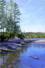 by Western pastel landscape artist Don RantzLynx Reflection