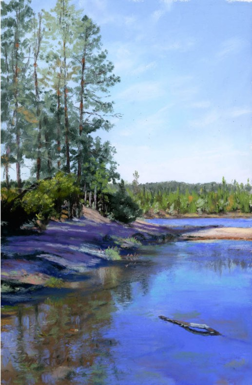 by Western pastel landscape artist Don RantzLynx Reflection