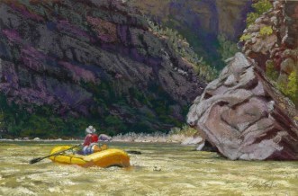 Mystery by Western pastel landscape artist Don Rantz