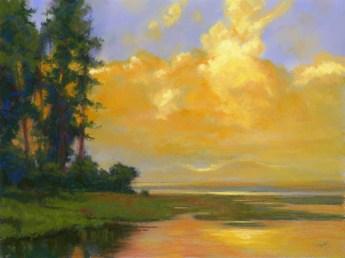 Pine by Western pastel landscape artist Don Rantz