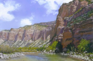 Palisade by Western pastel landscape artist Don Rantz