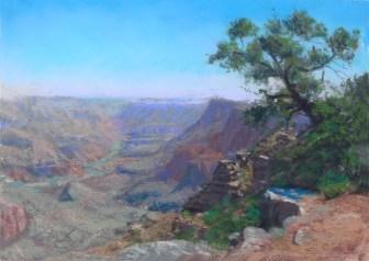 Grand Canyon 14-Palisades by Western pastel landscape artist Don Rantz