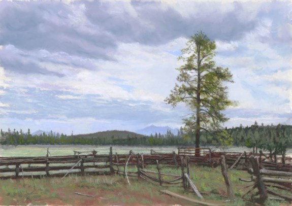 Peaks and Pine by Western pastel landscape artist Don Rantz