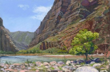 Pool by Western pastel landscape artist Don Rantz