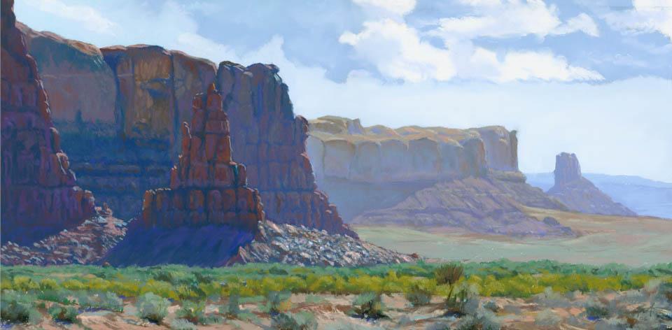 Receding Redwall 1 by Arizona pastel artist Don Rantz