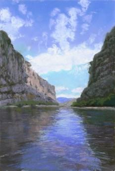 Reflection by Western pastel landscape artist Don Rantz
