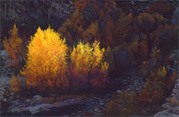 Sabino Canyon Color by Western pastel landscape artist Don Rantz