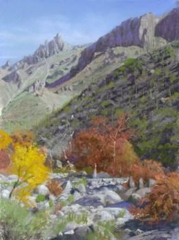 Sabino Canyon by Western pastel landscape artist Don Rantz