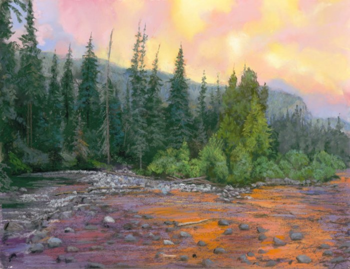 The Upper San Juan by Western pastel landscape artist Don Rantz