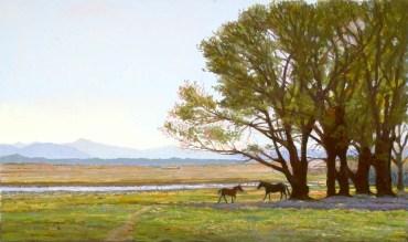 Simmons by Western pastel landscape artist Don Rantz