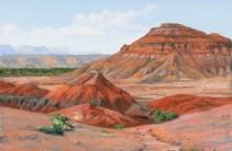 Two Buttes by Western pastel landscape artist Don Rantz