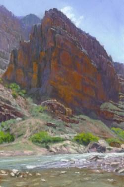Up by by Western pastel landscape artist Don Rantz