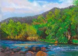 Verde River-Afternoon by Western pastel landscape artist Don Rantz