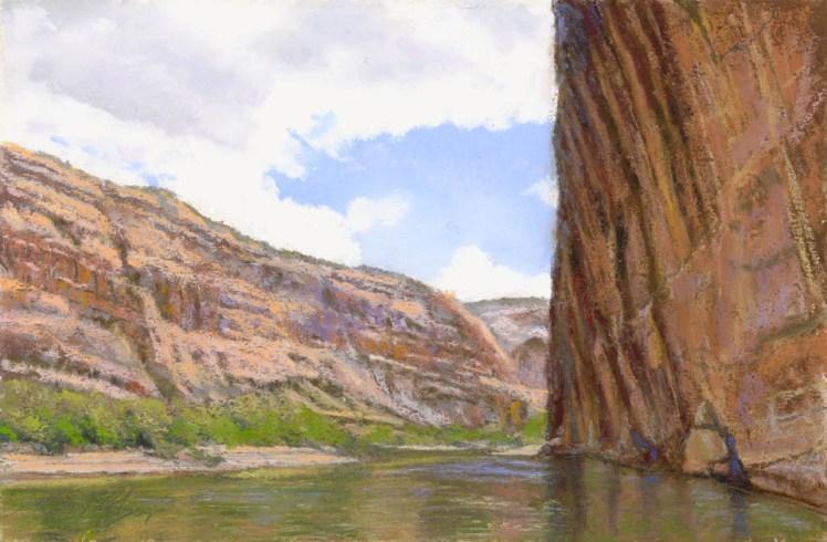 Walls by Western pastel landscape artist Don Rantz