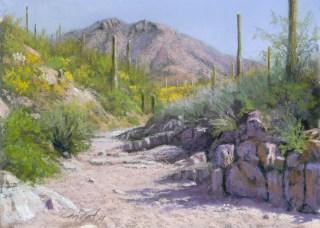 Wasson Peak by Western pastel landscape artist Don Rantz