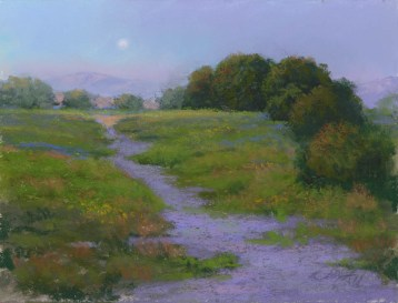 Willow Lake Walk by Western pastel landscape artist Don Rantz