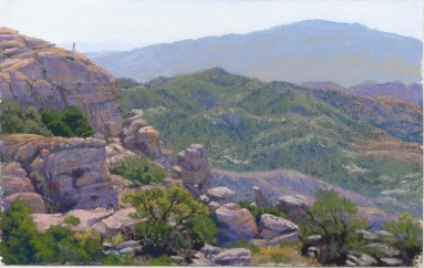 Windy Point by Western pastel landscape artist Don Rantz