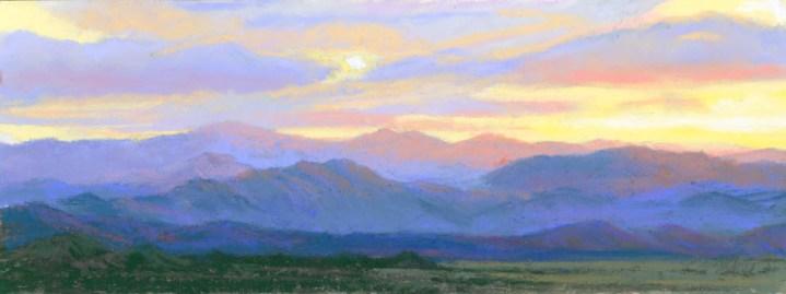 Wyoming Sky by Western pastel landscape artist Don Rantz
