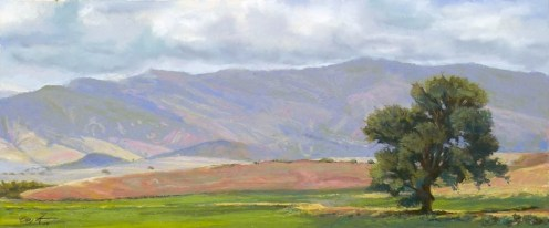 Wyoming Panorama by Western pastel landscape artist Don Rantz
