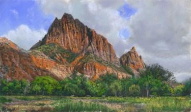 Zion Panorama by Western pastel landscape artist Don Rantz