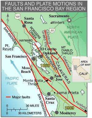 san francisco bay area faults