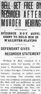 McAllister Murder – Bell Set Free – Jan 28, 1925