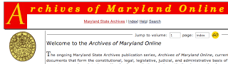 Maryland State Archives Website – How Frustrating