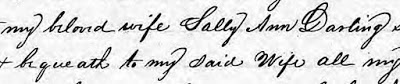 Abstract & Will of Abner Darling (1780-1839)