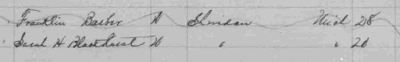 Searching for the death records for Frank Barber