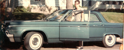 Don with step father's 1964 Olds Dynamic 88, the car he learned to drive on.