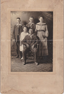 Adams-Roberts Family c. 1916 - Copy from Kenneth G. Smith collection. Used by permission.
