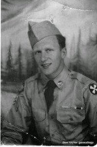 Photo of Russell Kees in army uniform