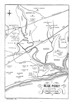 Map of Blue Point & Dunstan