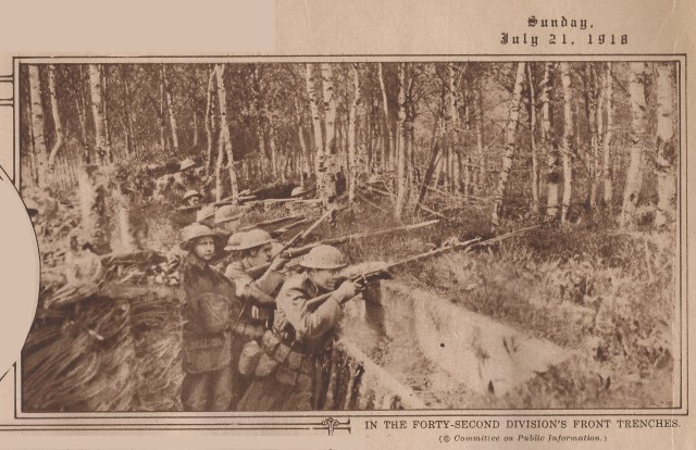 In the Forty-Second Division's Front Trenches
