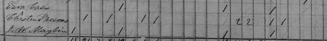 Screen shot of 1840 Census