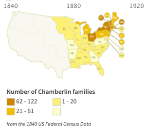 Map - Chamberlin Distribution in 1840 Census