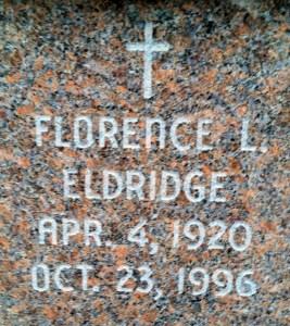 Marker of Florence L. Eldridge